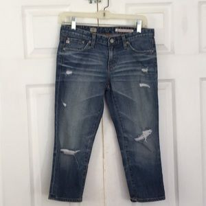 AG Maiden distressed jean capris size 27R